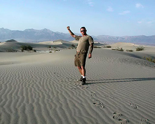 Death Valley Dunes, 4th of July weekend,110 degrees